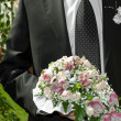 Man with bouquet — Stok fotoğraf