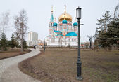 Assumption Cathedral in Omsk — Stock Photo
