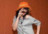 Pin-up-girl — Stockfoto