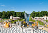 Lower park of the Peterhof — Stock Photo
