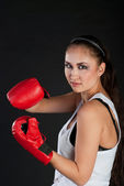 Girl boxer — Stock Photo