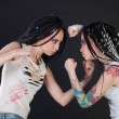 Stock Photo: Fighting girls