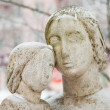 Sculpture of mother and child — Stock Photo
