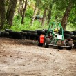Buggy on earthen track — Stock Photo