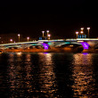 Night bridge in St. Petersburg city — Stock Photo #4872175