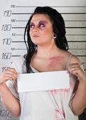 Dívka ve vězení — Stock fotografie
