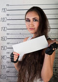 Girl in prison — Stock Photo