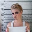Girl in prison - Stock Photo