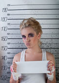 Girl in prison — Foto Stock