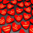 Stock Photo: Badges in the manner of heart