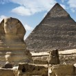 Royalty-Free Stock Photo: Sphinx and Pyramid