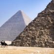 Giza pyramids, cairo, egypt — Stock Photo #4213561
