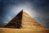 Las pirámides de giza, el cairo, egipto — Foto de Stock