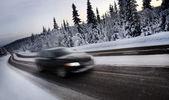 Motion blur de condução automóvel — Fotografia Stock