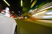 Car in motion blur — Stock Photo