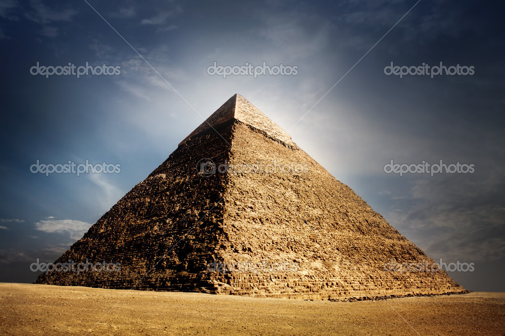 Giza pyramids, cairo, egypt   Stock Photo #4213548