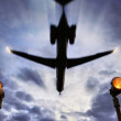 Stock Photo: Plane passes overhead