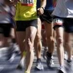Marathon runners - blurred motion — Stock Photo #4220898