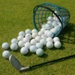 Basket of Driving Range Golf Balls — Stock Photo