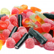 Colored candies over white background — Stock Photo