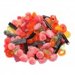 Photo of colored candies over white background — Stock Photo #4229014