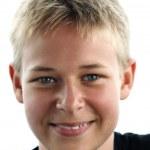 Happy boy, 13 year old — Stock Photo