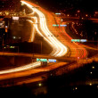 Cars at night with motion blur — Foto de Stock