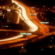 autos in der nacht mit motion blur — Stockfoto