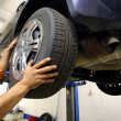 Wheel change - Stockfoto