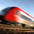 Fast train with motion blur — Stock Photo #4229164