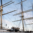Three-masted yacht - Stock Photo