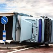 Stock Photo: Overturned Lorry