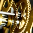 Stock Photo: Old clock mechanism