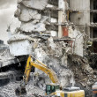Stock Photo: Part of a demolished apartment house