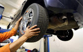 Wheel change — Stockfoto