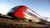 Fast train with motion blur — Stock Photo