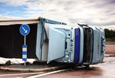 Overturned Lorry — Stock Photo