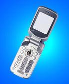 öppna mobiltelefon — Stockfoto