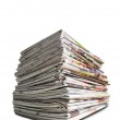 A pile of newspapers — Stock Photo