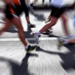 Stock Photo: Marathon runners - blurred motion
