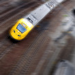 Fast train with motion blur — Stock Photo #4230357