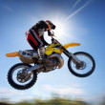 Flying moto — Stock Photo