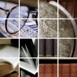 Collage of library ambiance — Stock Photo #4230608