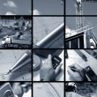 Collage of Construction ambiance - Foto Stock