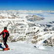 Ski resort Italy - Stock Photo