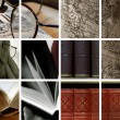 Stock Photo: Collage of library ambiance