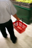 Shopping in grocery store — Stock Photo