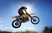 Flying moto — Stock Photo