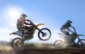 Motocross rider — Stock Photo
