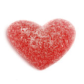 Sugar candy Valentine's hearts isolated on white background — Stock Photo